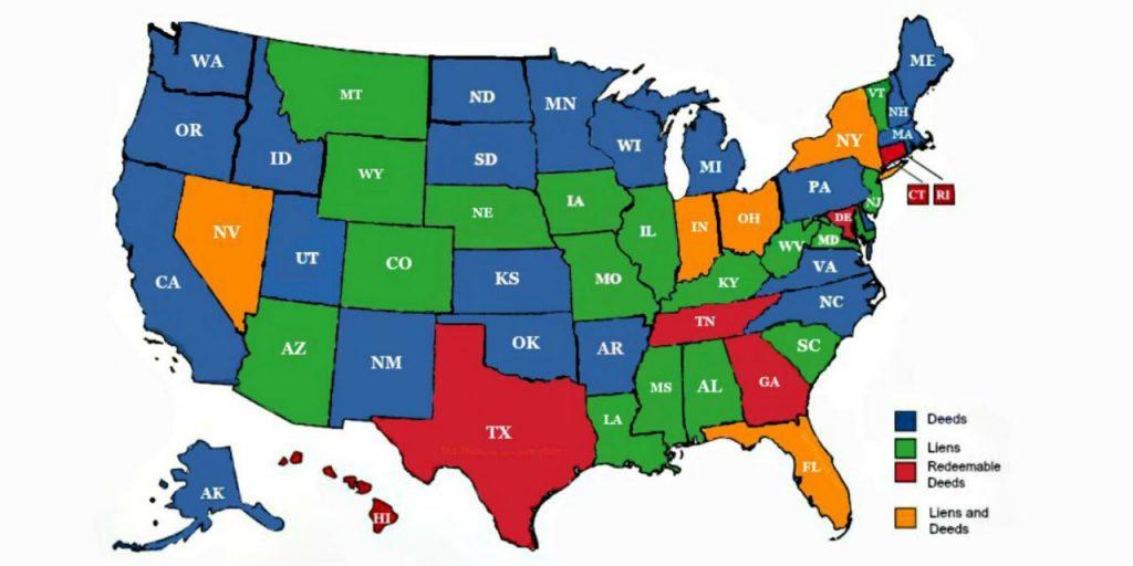 Tax liens tax Deeds states